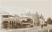 Wallace St,Braidwood in New South Wales in 1911.