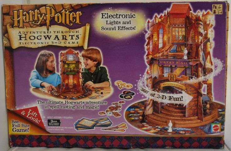 Harry Potter - Adventures Through HOGWARTS Electronic 3-D Game, Boxed, Complete