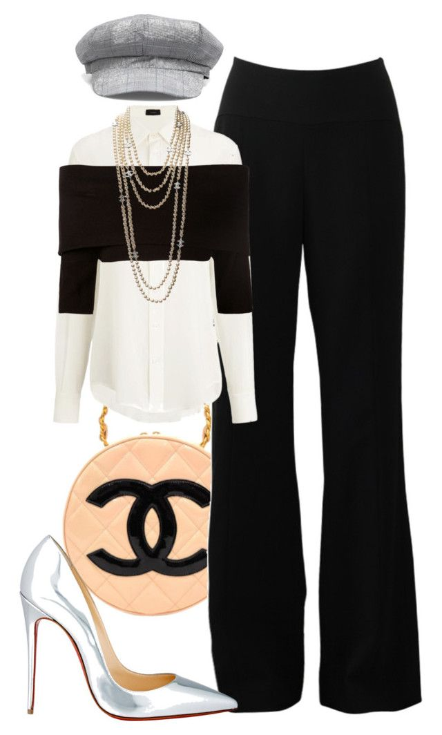 """Day 252: Andy Sachs"" by onceuponascreen ❤ liked on Polyvore featuring Chanel, Narciso Rodriguez, Joseph, Dorothee Schumacher and Christian Louboutin"