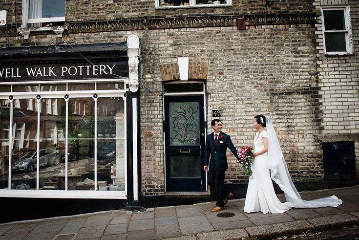 Bride Groom Walk Through Hampstead - Burgh House wedding venue