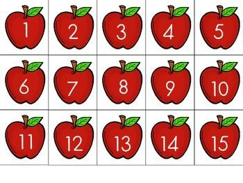 Jablíčka - číslice
