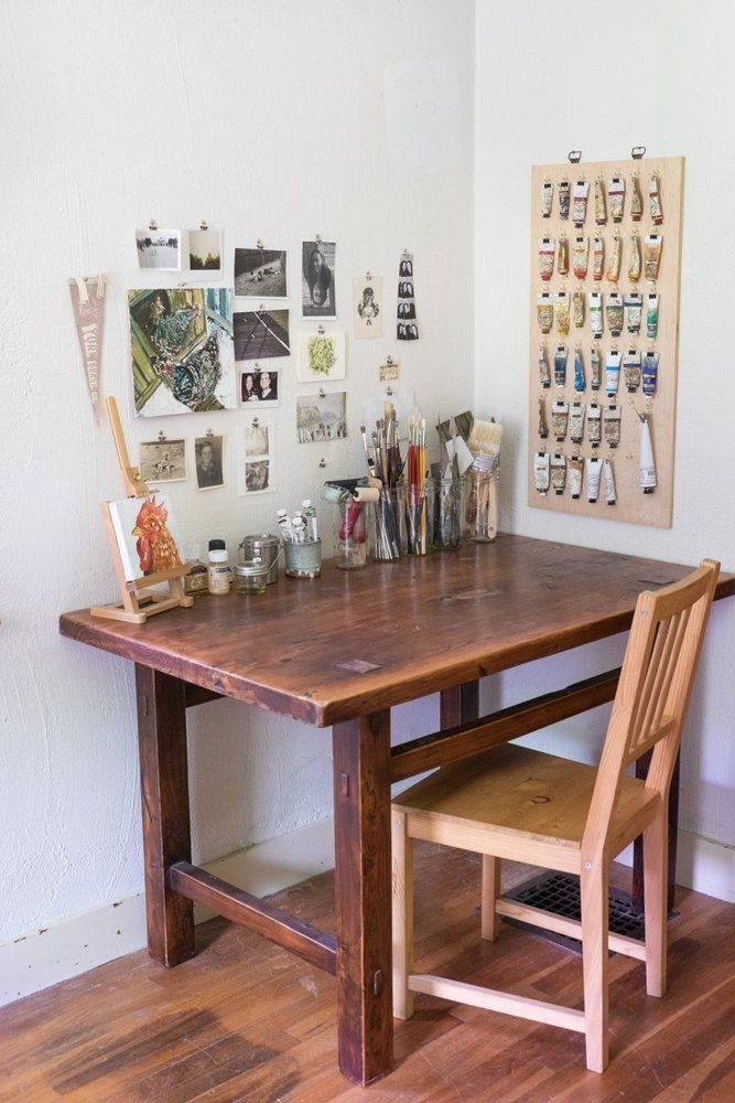 Max Emily S Stone Farmhouse With An Artistic History Art Studio At Home Studio Room Art Desk