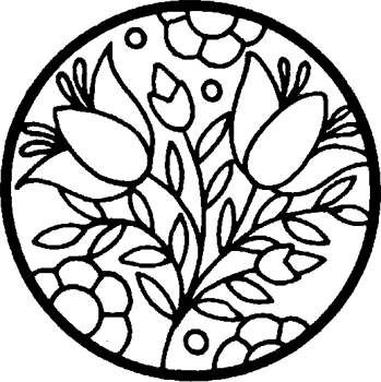 stained glass flowers coloring page stained glass coloring page for kids kaboosecom