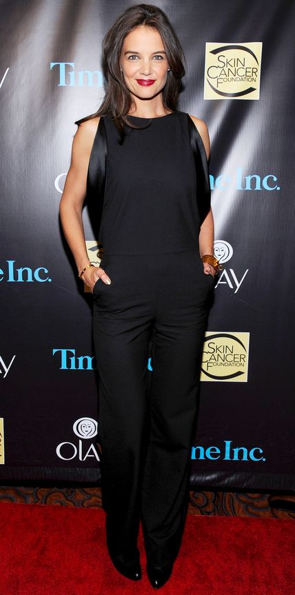Katie Holmes's Red Carpet Style - In Maison Martin Margiela, 2014 - from InStyle.com