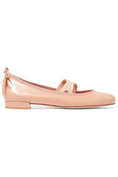 Stuart Weitzman - Bolshoi Leather Ballet Flats - Beige - IT36.5