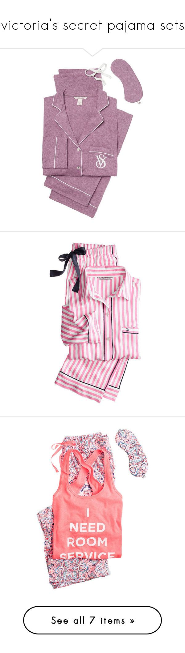 """victoria's secret pajama sets"" by babyprincessdarling ❤ liked on Polyvore featuring intimates, sleepwear, pajamas, victoria secret sleepwear, knit jersey, victoria secret jersey, petite pajamas, knit pajamas, victoria secret pjs and victoria's secret"