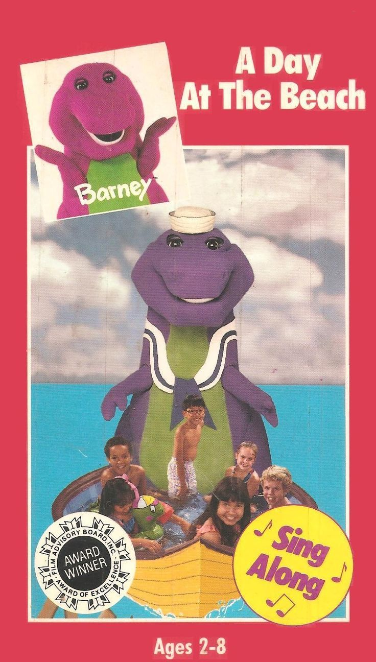 barney a day at the beach vhs videos rented barney videos school
