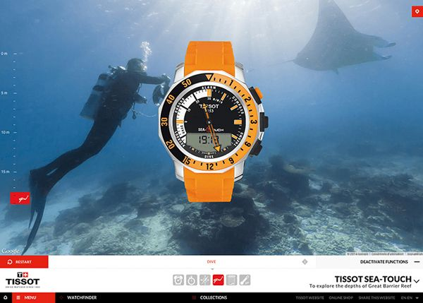 HTML5 CSS3 Websites Design – 27 Inspiring Examples Tissot T-Touch Tactile Watch Live the T-Touch experience with Tissot! The touch watch for adventurers reveals its strengths and offers a new way to try it out.
