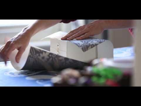 How To Wrap A Gift Using Farrow & Ball Wallpaper!