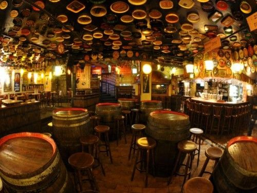 The Delirium Tremens Café in Brussels, Belgium, home to the largest selection of beer in the world.