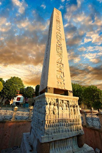 The obelisk of Theodosius #Istanbul, Turkey