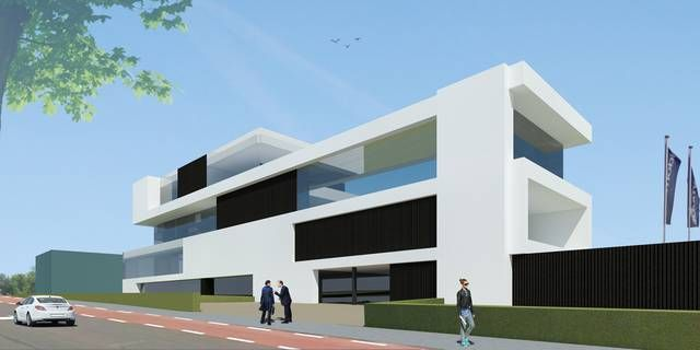 Zo zal het nieuwe kantoorgebouw van Dumobil er uitzien.-Foto Kos