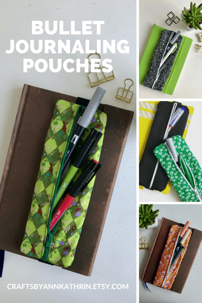 Wondering how to carry around a couple of pens with your bullet journal? Check out these zipper pouches in my new Etsy shop!