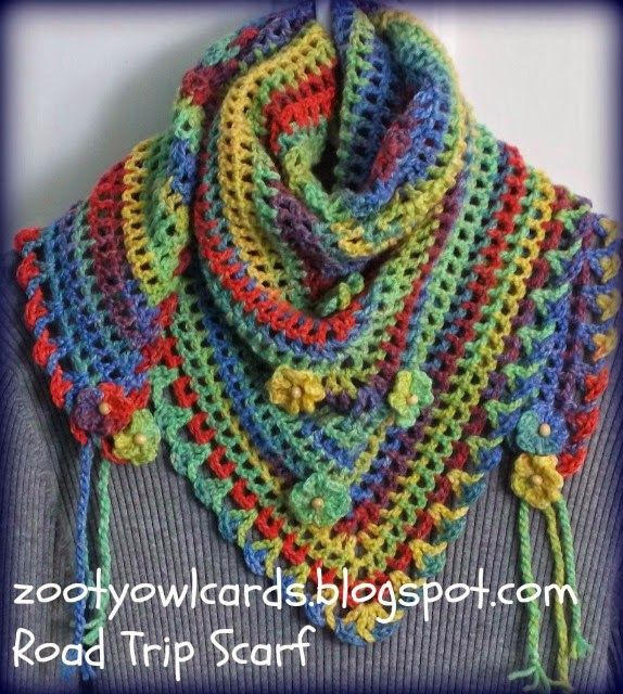 road trip scarf http://zootyowlcards.blogspot.com/2014/06/road-trip-scarves-pattern.html