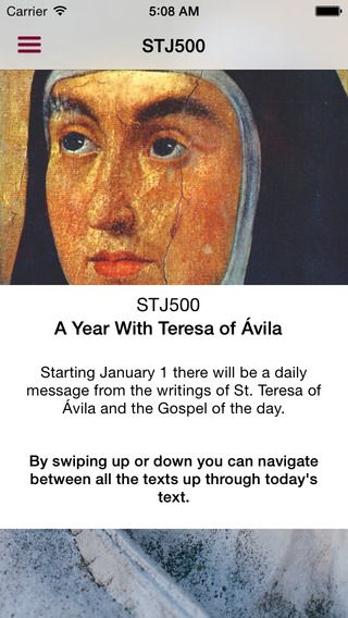 iPhone app STJ500 A Year With Teresa of Ávila