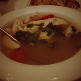 Clear tomyum soup