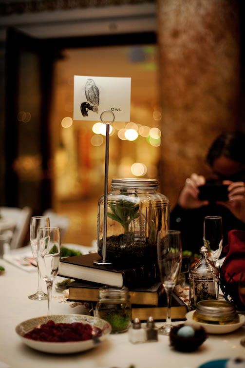 Museum Tablescape - Taxidermy Elephants, Dinosaurs & A Vegan Ethos - Alix & Shawn's Natural History Museum Wedding - Rock n Roll Bride