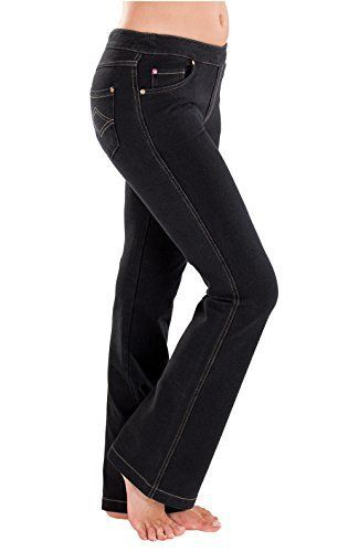 New Trending Denim: PajamaJeans - Petite Bootcut Black Stretch Knit Denim Jeans for Women. PajamaJeans – Petite Bootcut Black Stretch Knit Denim Jeans for Women   Special Offer: $44.99      444 Reviews A chic alternative to Blue, our Black bootcut style transitions effortlessly from day to night, casual to dressed up. Made to wear often in soft, stretchy Dormisoft...