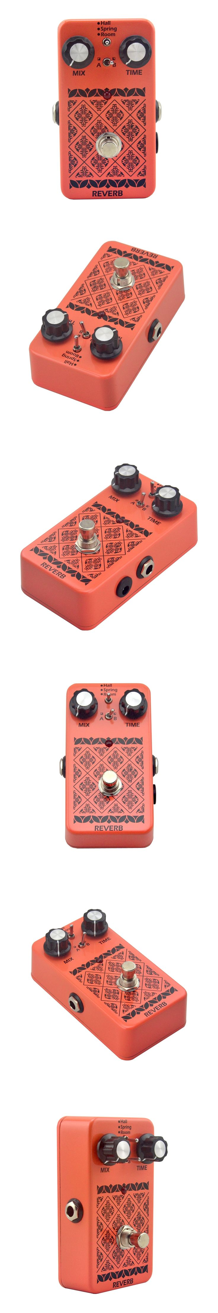 NEW reverb effect Stereo True Bypass Electric Guitar Pedal for Guitar Parts & Accessories reverb