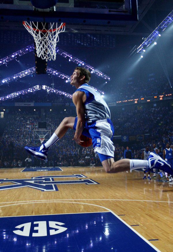 Kentucky Basketball. Jarrod Polson in Big Blue Madness 2013.