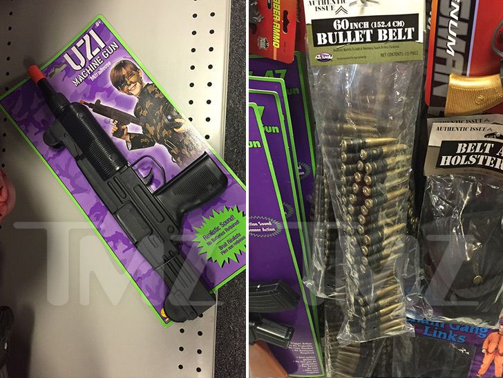 The Las Vegas mass shooting and the horrific carnage it left behind  hasn't put a damper on Vegas Halloween stores -- realistic looking toy guns are still for sale.