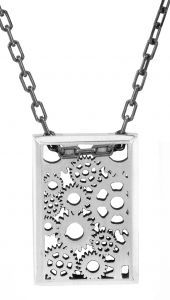 Sprockets with chain necklace / pendant in sterling silver - $495 Cycling, bike, bicycle