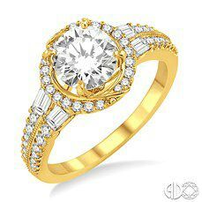 every girl dreams best of both worlds silver and gold engagement ring.