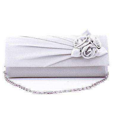 Donna Raso/Satin Formale / Serata/evento / Matrimonio Borsa da sera Bianco / Rosa / Blu / Verde / Nero del 4527371 2016 a €12.73