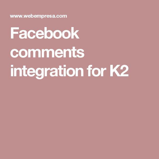 Facebook comments integration for K2