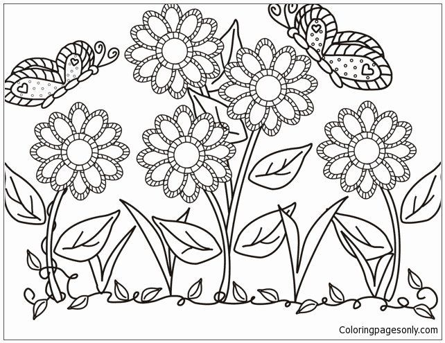Flower Garden Coloring Page Inspirational Flower Garden Coloring Page Free Coloring Pages L Butterfly Coloring Page Garden Coloring Pages Flower Coloring Pages