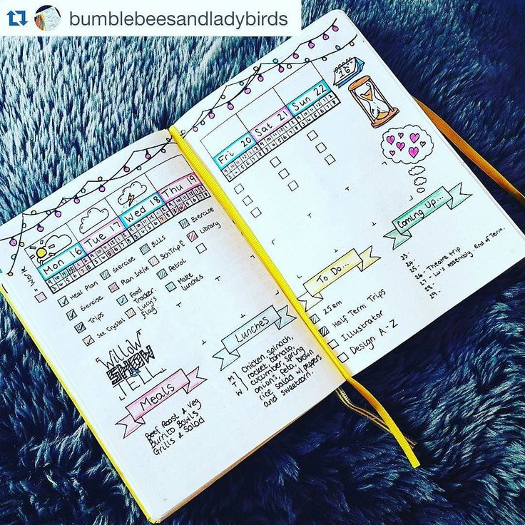 Bullet Journal Weekly Spreads | Show Me Your Planner (Planning and Journal Inspiration