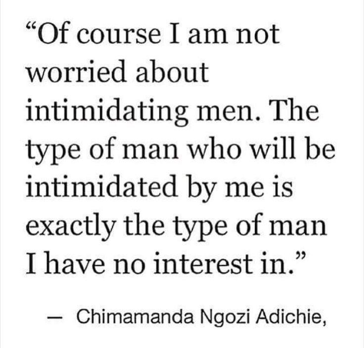 Intimidating men
