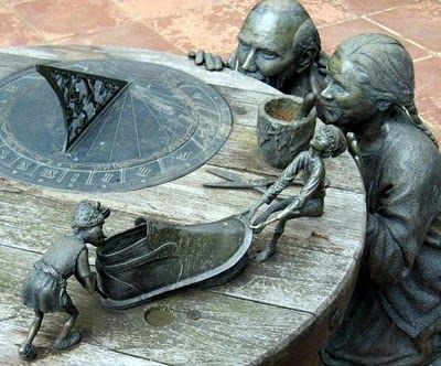 A magical sundial at Groundcover Leather company Midlands Meander, KZN, South Africa www.midlandsmeander.co.za. Handcrafted leather wares