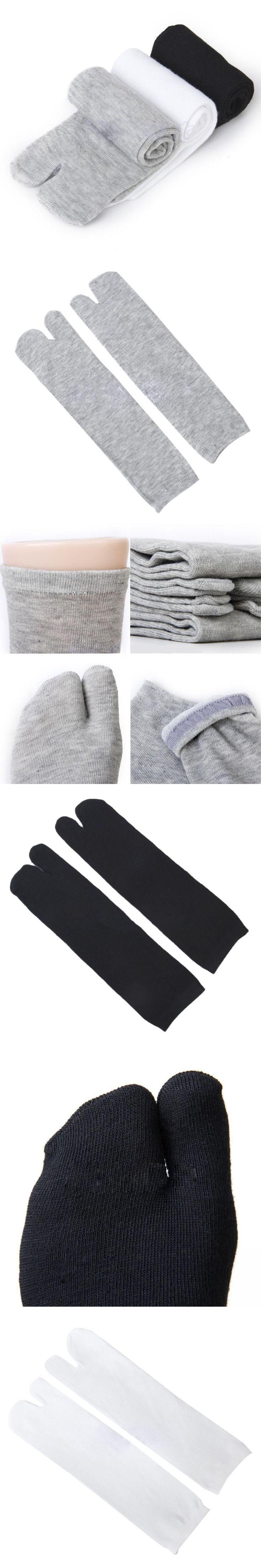 3 Pair Men Women Tabi Socks Split Two Toe Japanese Kimono Sandal Split Toe Geta Socks 7993