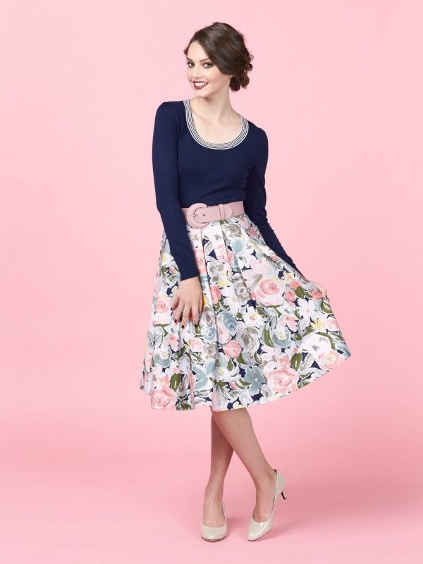 Review Australia || Royal Garden Full Midi Skirt in Floral $179.99 A classic full midi skirt with flattering pleats, the Royal Garden Skirt featuring a soft floral print that's exclusive to Review. Effortlessly accentuating your waist, it's perfect paired with your favourite top in any of its sweet pastel tones. Length: 66cm approx.