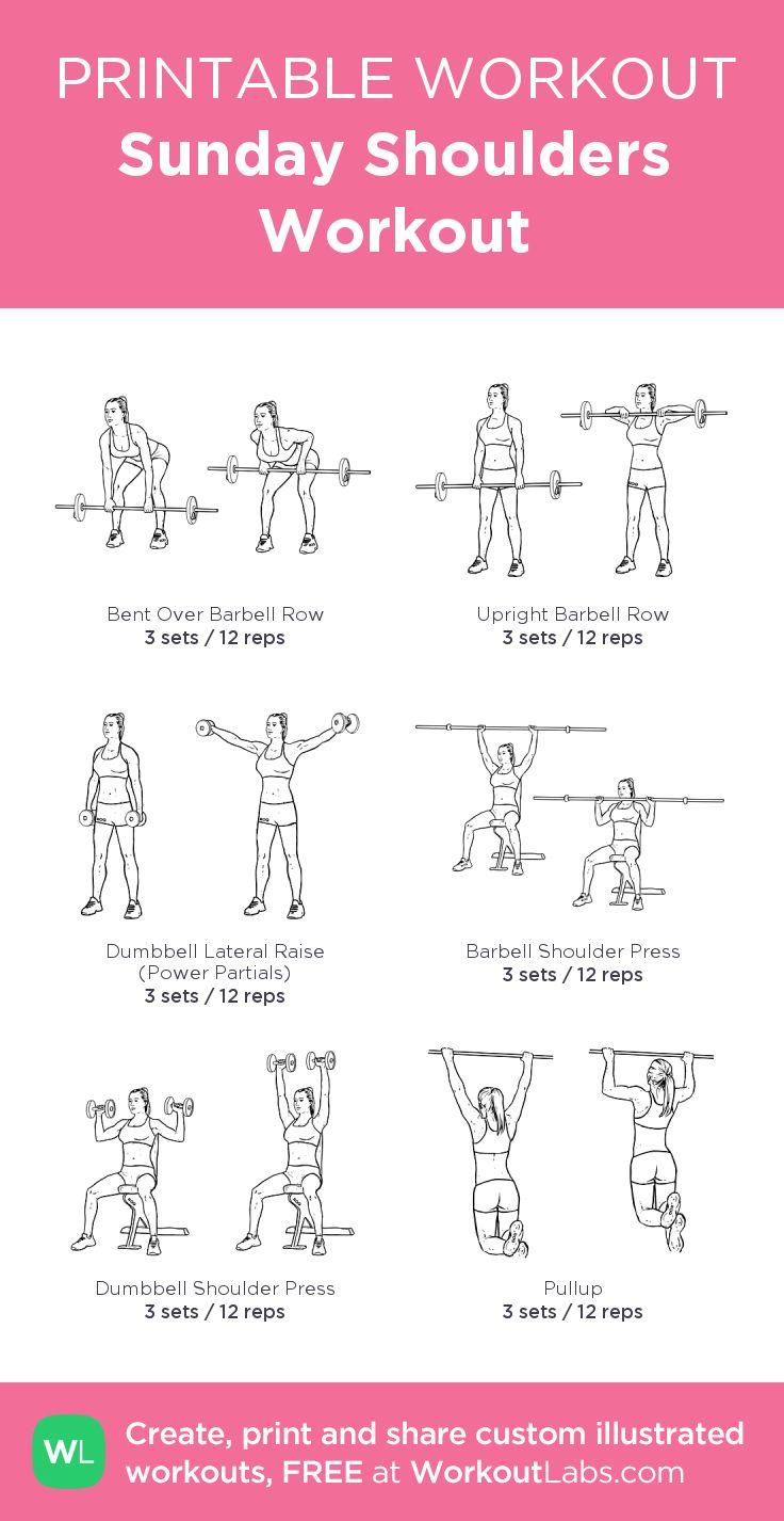 Sunday Shoulders Workout:my custom printable workout by @WorkoutLabs #workoutlabs #customworkout