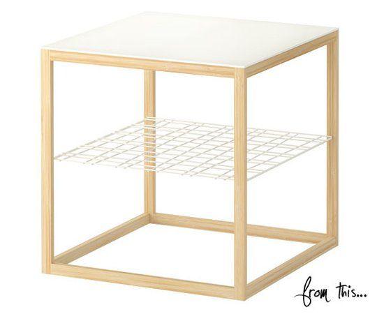 diy ikea copper side table hack u2014 style me pretty living