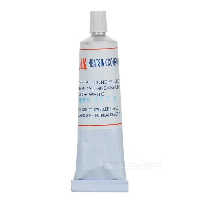 FUJIK Silicone Thermal Glue (50ml Grease-Like). Grease style silicone heatsink paste for flashlight (LEDs), CPUs, RAM, Chipsets, and all applicable situations - Comes with precision application funnel - Thermal conductivity: 0.007??/W; Thermal resistance: 1.1W/m?¤K~1.2W/m?¤K. Tags: #Computers/Tablets #Networking #Hardware #Parts #Hardware #Cooling #Gears