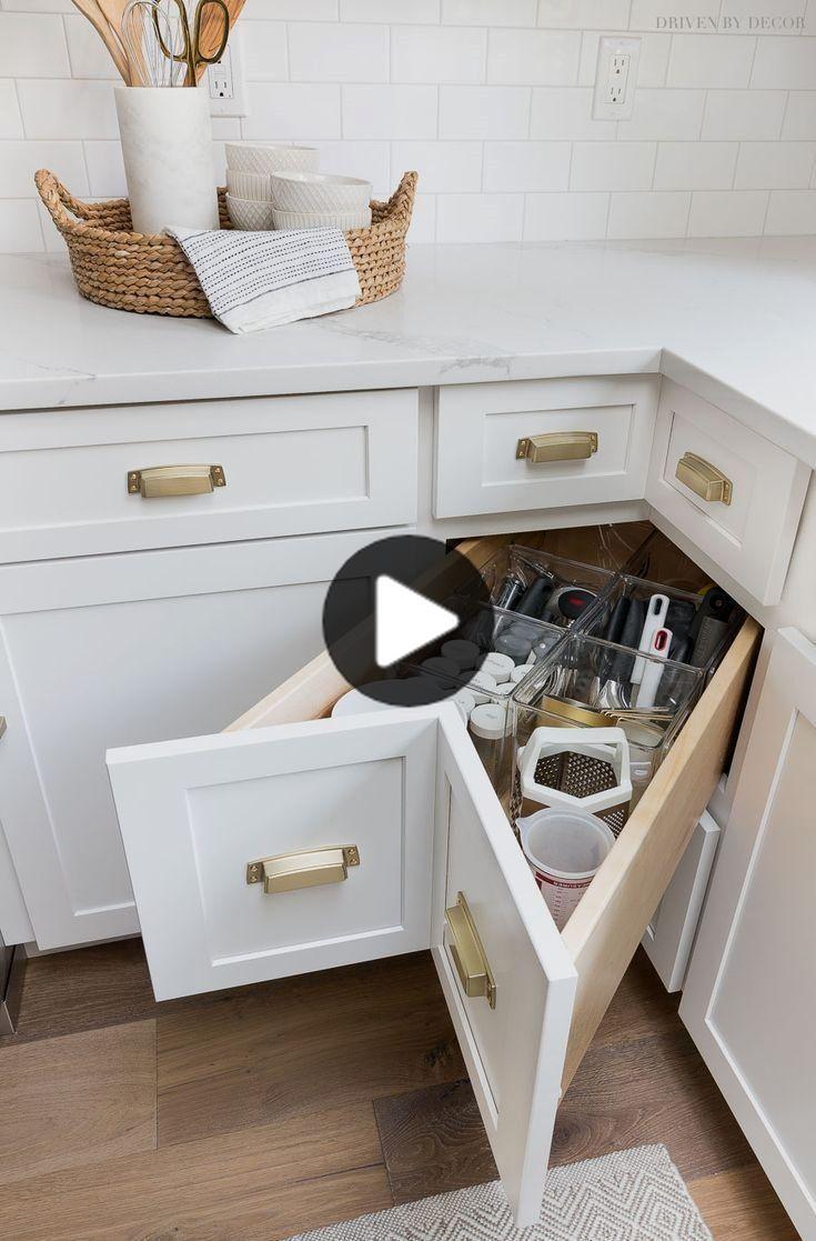 Kabinett Storage Organisation Ideen Von Unserem Neuen Kuche In 2020 Small Kitchen Storage Kitchen Cabinets Storage Organizers Kitchen Remodel Small