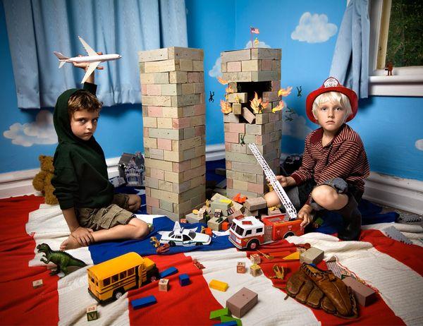 In The Playroom by Jonathan Hobin, via Behance
