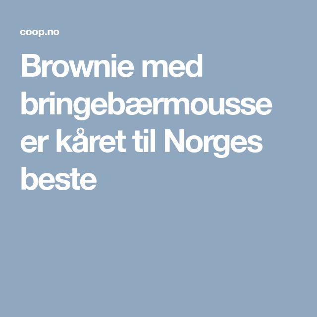 Brownie med bringebærmousse er kåret til Norges beste