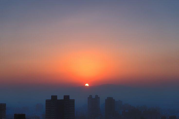 Sunset at New Taipei City