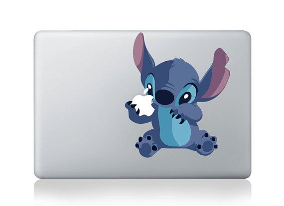 stitch----macbook pro decals stickers macbook  mac stickers  mac pro vinyls decals Vinyl mac decals Apple Decal for macbook/ipad/ipad2. $8.99, via Etsy.
