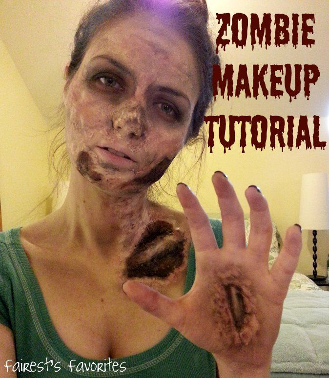 Fairest's Favorites : Halloween Costume: Zombie Makeup Tutorial DIY Last-Minute