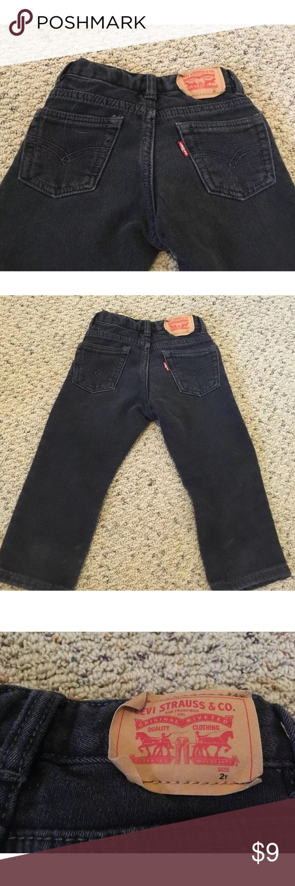 Boy's 2T Knit 511 Pants Black Great condition. Soft, knit pant with the jean look. Black in color. My son hates wearing denim, so these were a great alternative. Levi's Bottoms Jeans