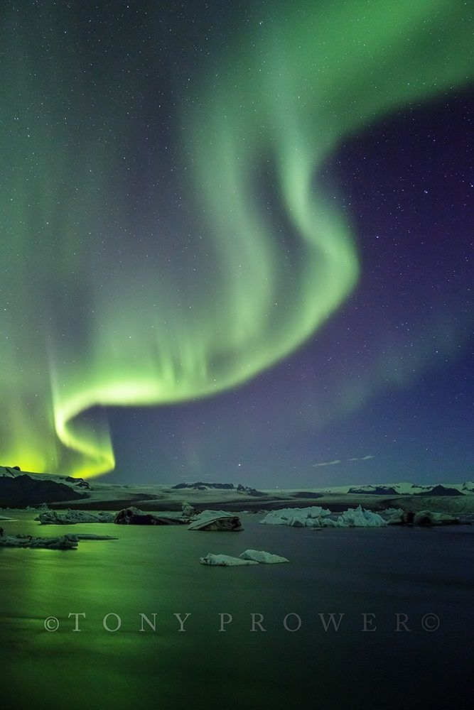 GreenTwist - iceland jokulsarlon aurora borealis northern lights