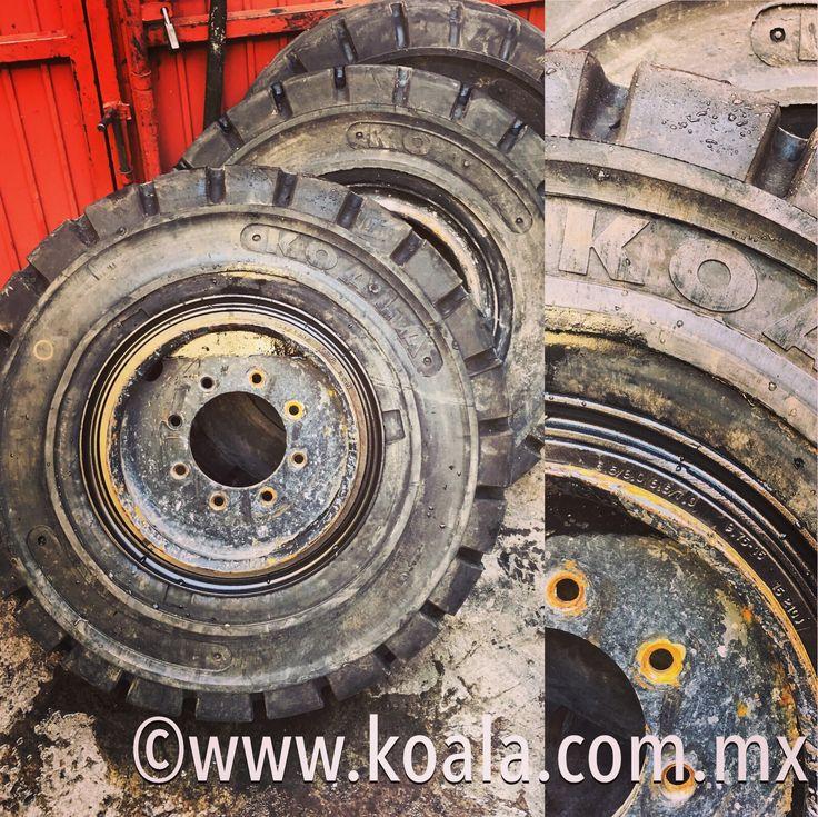 #montaje y ajuste perfecto en todas las #llantas #KOALA #solidas y #resilientes para #montacargas y #vehiculos #industriales👍