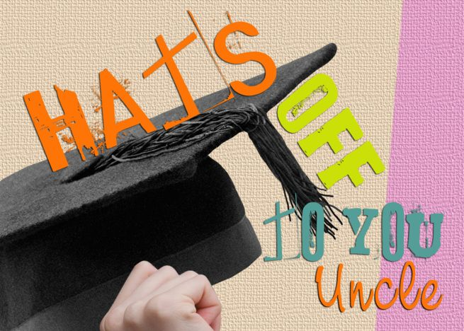 Uncle Graduation Congratulations Card Hats Off To You Card