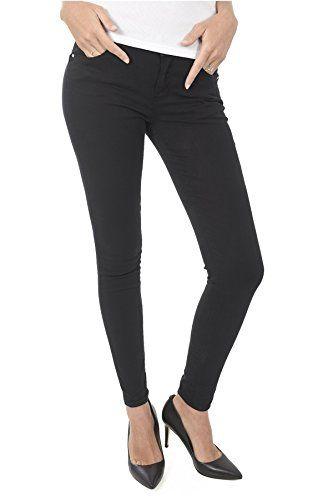 Guess Pantalon Noir Skinny W82aj2 Curve X Jeans   Jeans femme ... 741e0862ad8