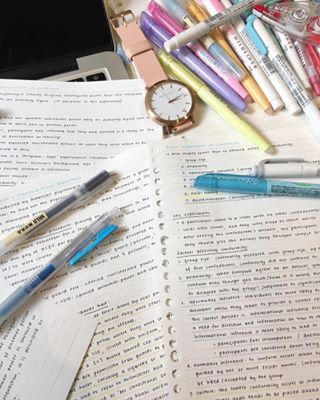 Those pens. | 20 Study Notes That Are Too Pure For This World